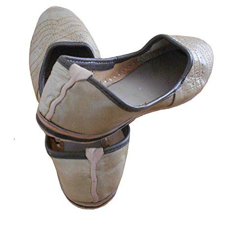 KALRA Creations Herren Schuhe Traditionell indische Slipper Leder Tan Color