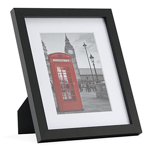 20 x 25 cm (8x10'') Bilderrahmen in schwarz, mit 2 Passepartouts (6 X8 Bilderrahmen)