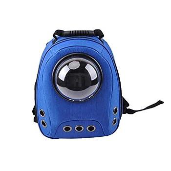 GLMAMK Sac pour Animaux de Compagnie, Transporteur de Fronde pour Animaux de Compagnie Respirant, Sac à Dos à Double épaule Portable (Couleur : Bleu)