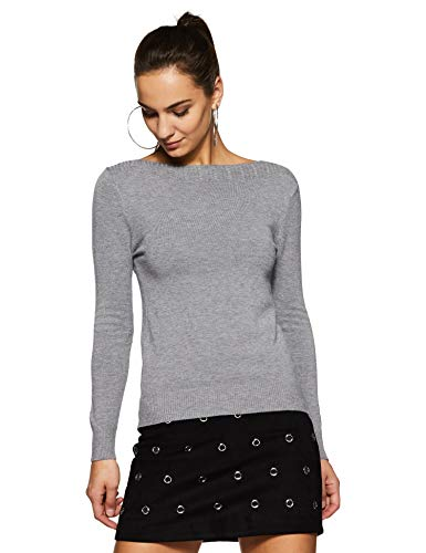 Qube By Fort Collins Women's Sweater (CH103_Grey_M)