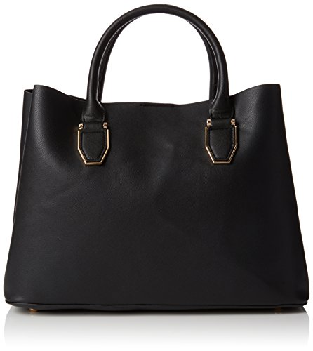 New Look Damen Lilo Tote, Schwarz (Black), 12x27x30 cm (Bag Tote New-handtaschen)