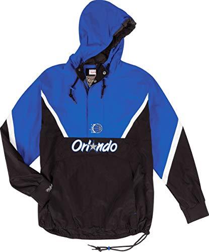 Mitchell & Ness Orlando Magic Half Zip Anorak Jacket Windbreaker NBA HWC Jacke(XL,Blue) Half-zip Windbreaker