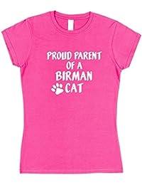 Click My Clobber Womens, T-Shirt, Proud Parent Of A Birman Cat Great Christmas Gift Idea For Cat Lover,
