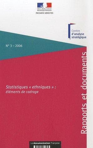 Statistiques ethniques : éléments de cadrage