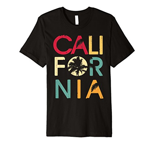 California CA Retro 70er Vintage Skyline Surf T-Shirt