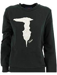 Trussardi Jeans Round Neck Fleece Pure Cotton Camiseta de Manga Larga para Mujer