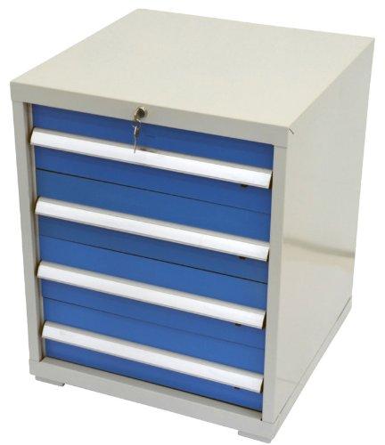 Werkzeugschrank Werkstattschrank Stahlschrank - blau - 4 Schubladen