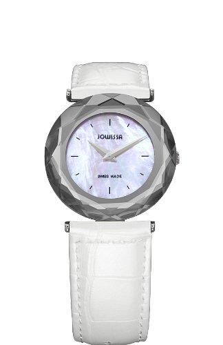 Jowissa - J1.001.M - Montre Femme - Quartz Analogique - Bracelet Cuir Blanc