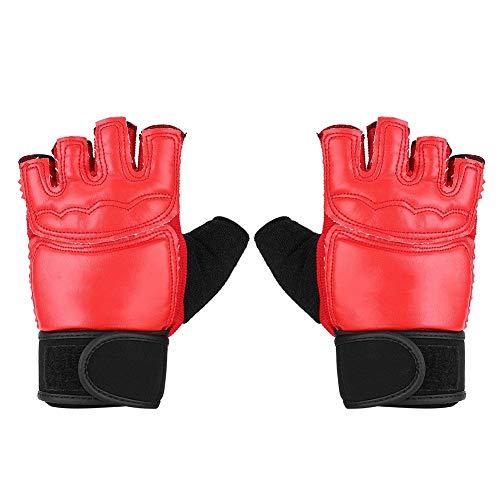Yonhchop 1 Paio di Scarpe da Ginnastica protettive per Allenamento con la barretta per Adulti, Mezzo Dito, Karate/Muay Thai/Taekwondo