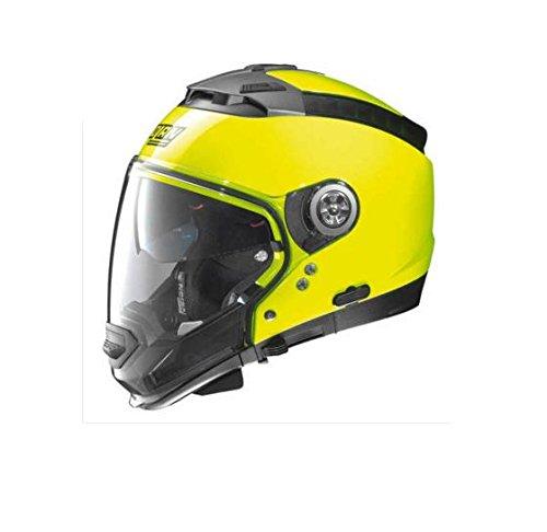 Nolan N44EVO  Lexan N-Com - Casco de moto modular, color amarillo fl