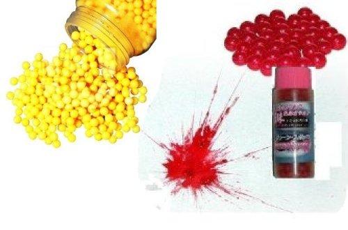 NERD® Softair Kugel Set 2000 Kugeln + 500 Softair Farbkugeln Rot