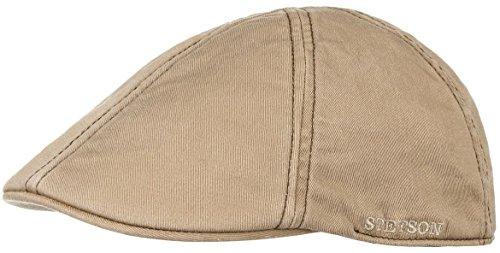 Stetson Glensfalls Flex Schildmütze Baumwollcap Flatcap (L/XL (58-61) - beige) (Cap Baumwolle Ivy Stetson)