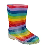 Cotswold PVC Kids Rainbow Welly Wellington Boots Wellies