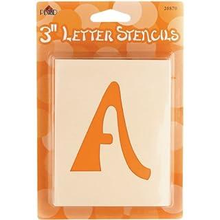 Plaid:Craft Mailbox Letter Stencils-Swashbuckle 3-inch, 3 Inch