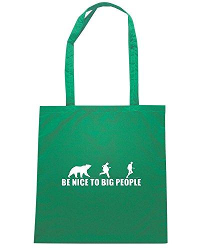 T-Shirtshock - Borsa Shopping SP0116 Nice To Big People Maglietta Verde