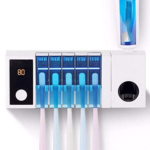 WACB Zahnbürste-Sterilisator, Multi-funktionen UV Zahnbürste Sterilisator Mit Trocknen Ventilator Automatik Zahnpasta Zahnbürste Halter Bad Toilette Reinigt Werkzeuge -