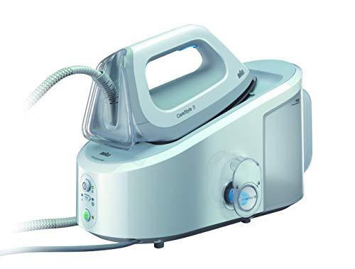 Braun Carestyle 3 IS3042/1WH - Centro de planchado, 2.400 w, 120 g/min, 5,5 bar, depósito 2 l, blanco y gris
