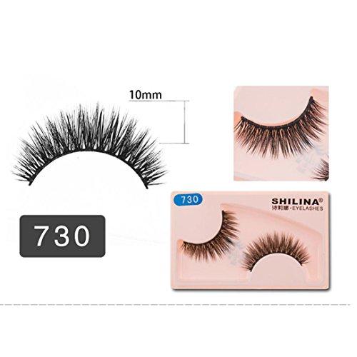LCLrute NEUE 1 Paar Magnetische falsche Wimpern handgemachte Lashes 3D Triple Soft Lashes (I) (Magnetische Kosmetische Fall)