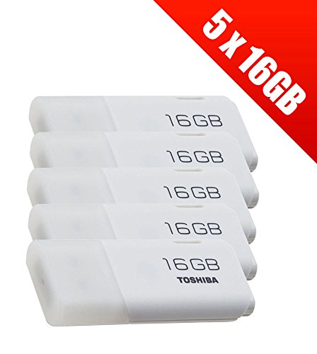 Toshiba TransMemory USB-Stick, U202,16GB, USB 2.0, 5er-Pack–Weiß (5x THN-U202W0160E4) - Toshiba-festplatte-flash