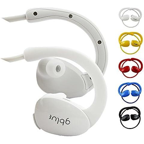 Emartbuy Gblue Bianco S80 Stereo Senza Fili Bluetooth Sportivo Cuffia Auricolari Auricolari Supporta Chiamate in Vivavoce con Microfono Per Highscreen Power Ice Evo / Power Rage Evo