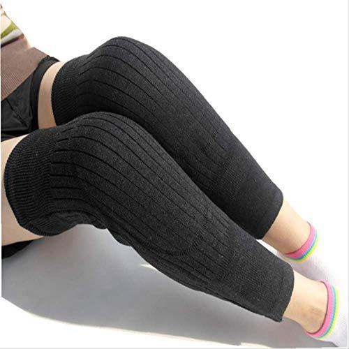 Wolle Knee Warmers (HPZN Schutzausrüstung Herbst Und Winter Nachahmung Wolle Warme Knieverdickung Sportwache Dark Grey)