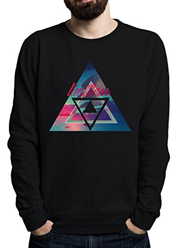 limitless-cool-words-phrases-sky-stars-space-modern-swag-triangles-simple-shape-mens-sweatshirt-xx-l