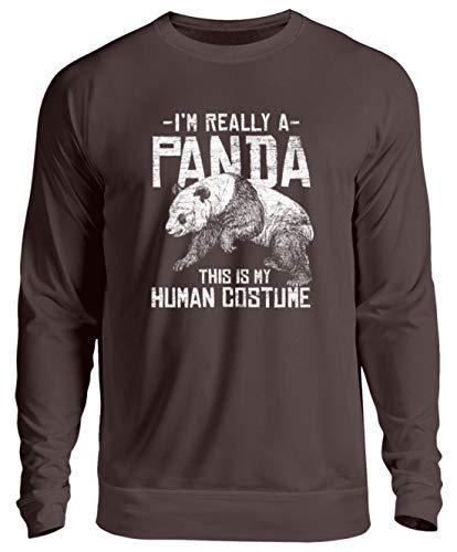 Shirtee Pandabär - Ich Bin wirklich EIN Panda - Das ist Mein Kostüm - Tierschutz Großer Panda - Unisex Pullover ()