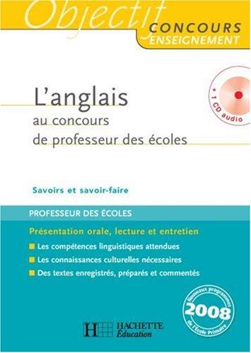L'anglais au concours de professeur des écoles (1CD audio)