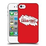 Head Case Designs Officiel Liverpool Football Club Europe Six Fois 4 2019 Champions Coque en Gel Doux Compatible avec iPhone 4 / iPhone 4S