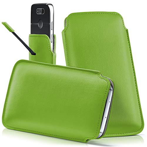 moex Emporia Eco | Hülle Grün Sleeve Slide Cover Ultra-Slim Schutzhülle Dünn Handyhülle für Emporia Eco C160 Case Full Body Handytasche Kunst-Leder Tasche