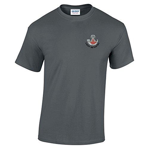 Leichte-Infanterie besticktem T-Shirt Anthrazit