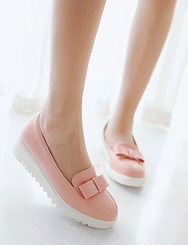 ShangYi Scarpe Donna Finta pelle Basso Punta arrotondata Mocassini Casual Nero/Giallo/Rosa/Rosso/Bianco Pink
