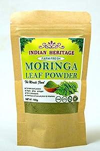 Indian Heritage Moringa Leaf Powder (Pack of 1 X 100gm)