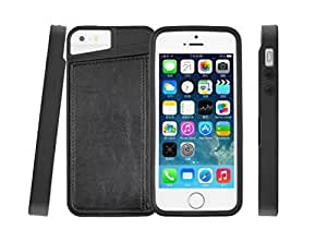 Apple Iphone Business Style Luxury Leather Case Wallet Flip PU Leather Back Case Cover Skin Protector For iPhone 5 5S