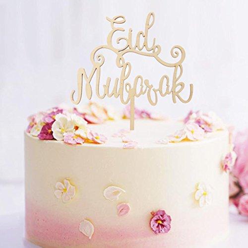 Ruda Eid Mubarak Ramadan Cupcake Toppers Vorstand Kuchen Dekor Für Muslimische Party Hochzeit Geburtstag Liefert Baby Dusche Holz Backen Werkzeug