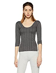 Dollar Ultra Womens Synthetic Thermal Top (MULF-001_Charcoal Melange_XL)