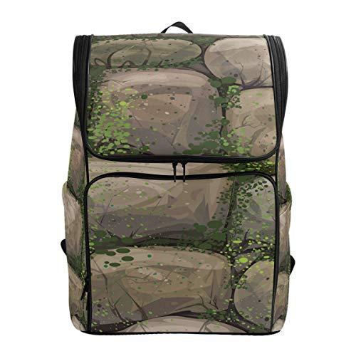 Ahomy Schulranzen Rock Moss Wanderrucksack Cool Sport Rucksack Laptop Tasche Leichter Schulrucksack für Teenager Mädchen Jungen