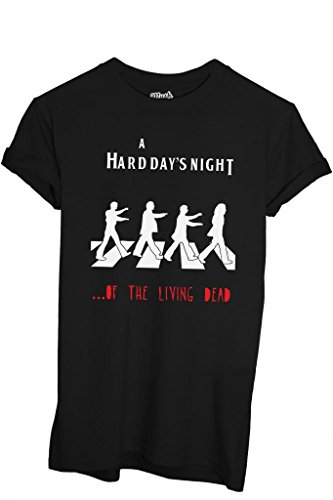 T-Shirt BEATLES WALKING DEAD - FILM by iMage Dress Your Style - Uomo-M-NERA