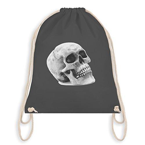 Shirtracer Piraten & Totenkopf - Totenkopf Skull - Unisize - Dunkelgrau - WM110 - Turnbeutel & Gym...