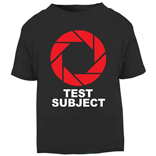 (Test Subject Aperture Portal Half Life Baby and Toddler Short Sleeve T-Shirt)