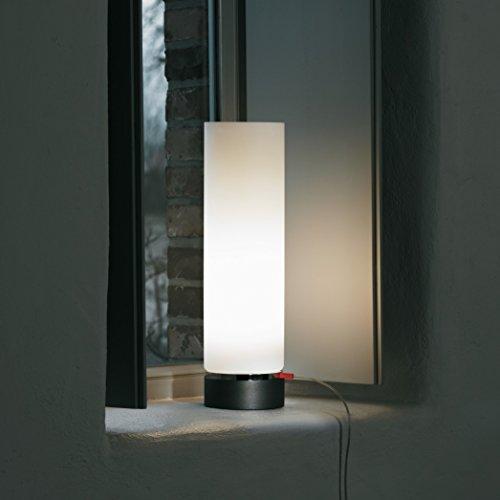 senses Design-Standleuchte ONE C1, 43 cm, Opal-Glas, Chrom-Ring, LED-Stehlampe, Bewegungsmelder, Softlicht, Dauerlicht