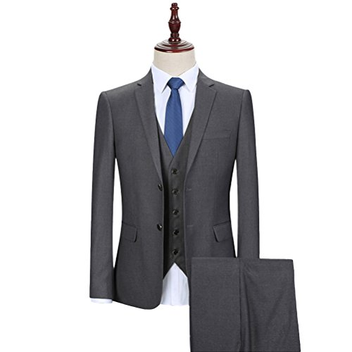 YOUTHUP Men's Tailored Fit 3 Piece Formal Business Suit
