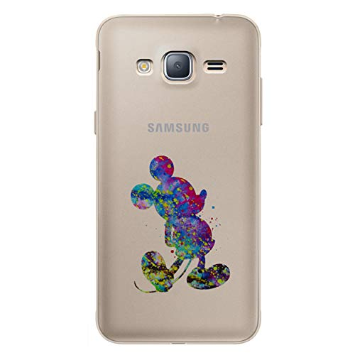 Fan Art Telefon Hülle/Case für Samsung Galaxy J3 2016 / Silikon Weiches Gel/TPU / iCHOOSE/Micky Maus Galaxy Case Fan