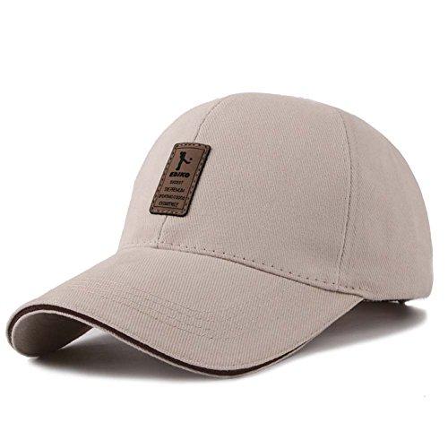 Tuopuda Herren Baseball Cap Ediko Einfarbig Basecap Kappen Baseballmütze (Beige) (Aufgeblasen Cap)