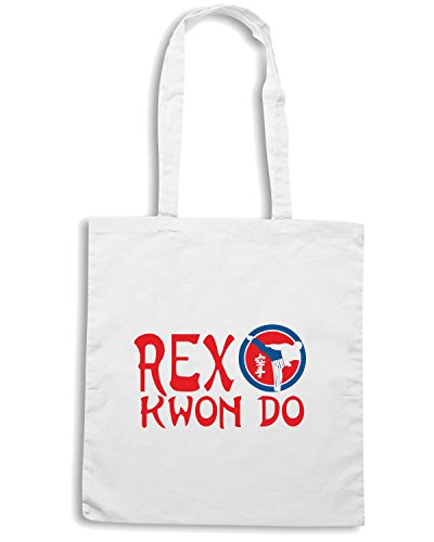 T-Shirtshock - Borsa Shopping TAM0156 rex kwon do hooded sweatshirt Bianco