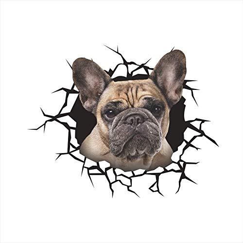 QTXINGMU Civid Hunde Wand Aufkleber Für Kinder Zimmer Bad Wc Home Decor 3D Tier Wand Aufkleber PVC Wandmalerei Kunst (2 Pcs) 3
