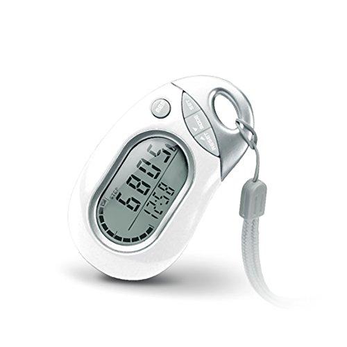 Digitaler Schrittzähler, 3D Kalorienzähler Fitness Tracker Präzise Pedometer mit 7 Tage Speicher um Fortschritte verfolgen, Weiß
