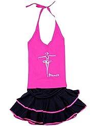 Un ensemble de petites filles de danse latine / Sport Top & Jupe