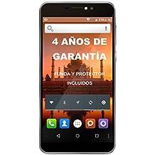 """Intex Aqua Prime - Smartphone libre Android (3G, 5.5"""", Dual SIM, 5 MP, 8 GB), color gris"""