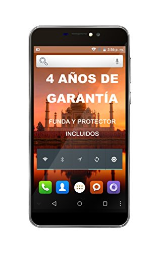 "Intex Aqua Prime - Smartphone libre Android (3G, 5.5"", Dual SIM, 5 MP, 8 GB), color gris"